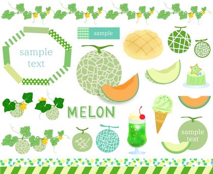Material set of melon