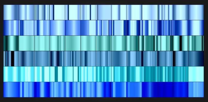 Blue gradient material