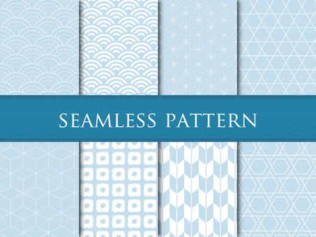 Seamless Japanese Pattern Pattern Blue