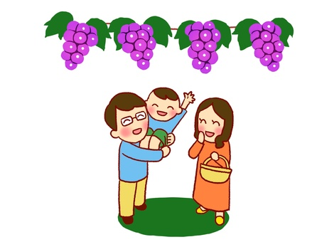 Grape hunting by family