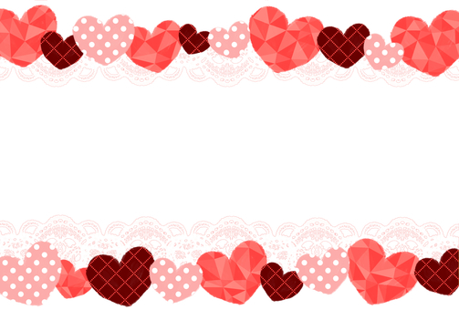 Heart and lace postcard frame