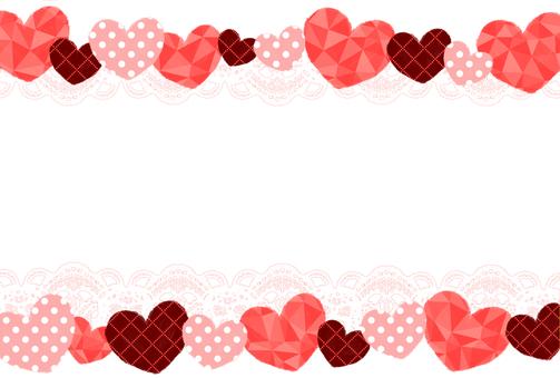 心和花邊明信片框架