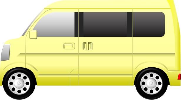 Minivan (car) Yellow