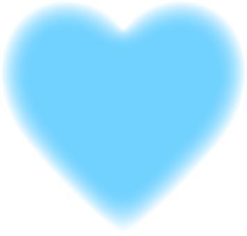 Heart _ blur _ _ 1 _ light blue