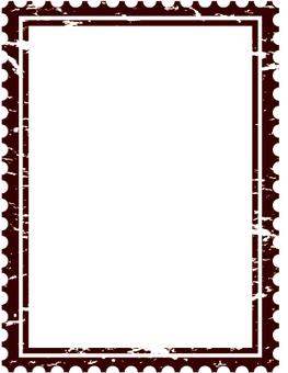 Antique postage stamp frame