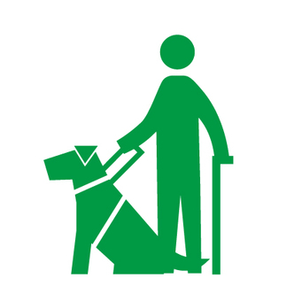Guide dog (care dog) pictogram