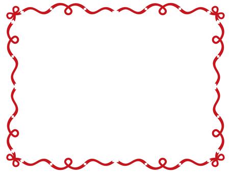 Ribbon frame <Red>