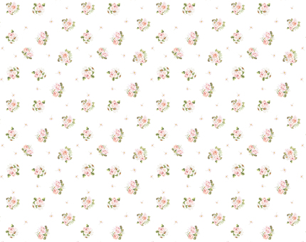 Background 8 - Continuous pattern of rose and dizzy