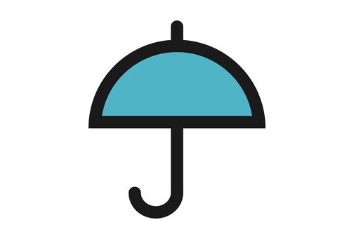 비, 우산 마크 아이콘