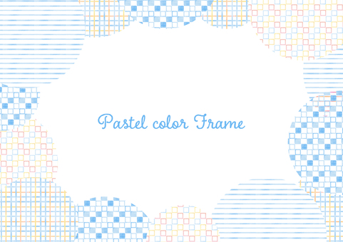 Pastel color frame