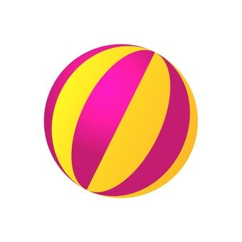 Beach ball (red)