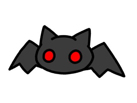 Bat throat black black