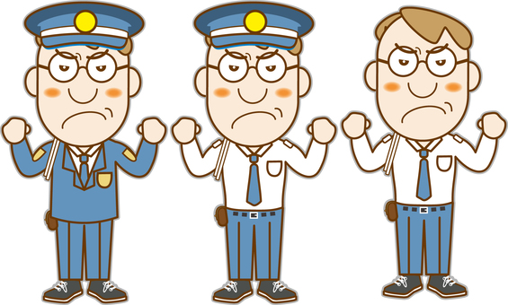 Angry policeman set