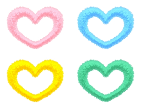 Fluffy Mokomoko Material Heart 4