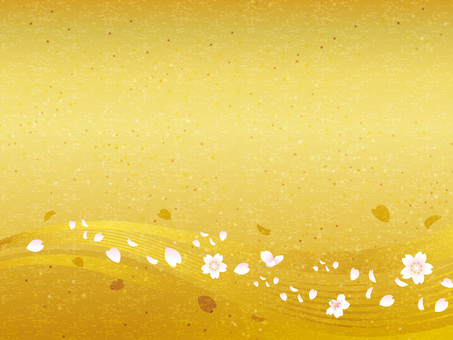 Cherry blossom running water image Washi gift 01