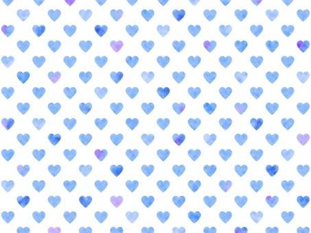 Heart pattern background watercolor 002