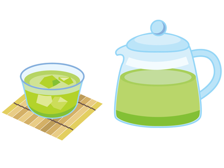 Green tea _ ice