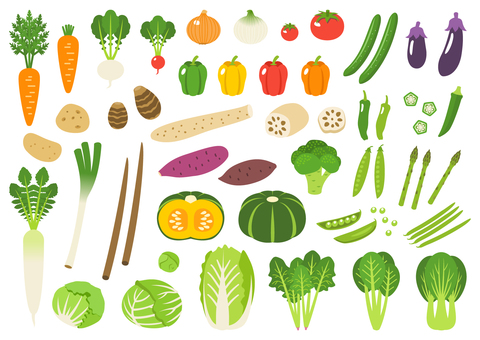 野菜シルエット イラストの無料ダウンロードサイトシルエットac