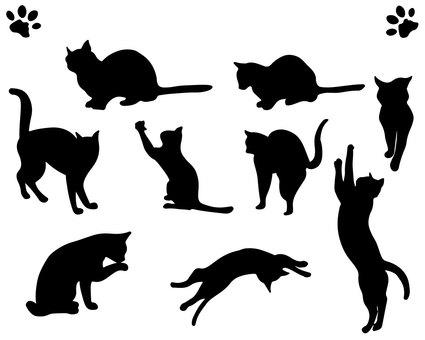 Feline silhouette 2