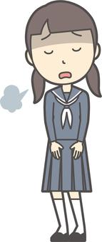 Junior high school sailor woman -026-whole body