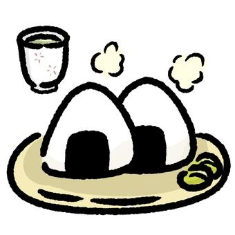 주먹밥과 차 ②