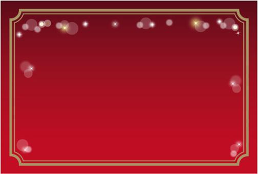 Glitter A decorative frame red