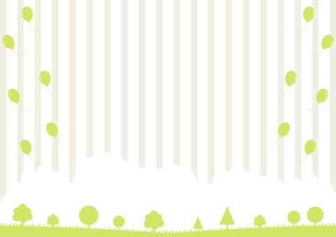 自然の風景 バルーン ストライプ背景