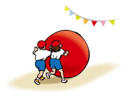 Sports festival - big rolling 3