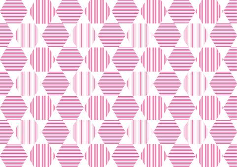 背景_線條圖案_六角形_粉紅色
