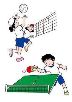 초등학생 클럽 활동 배구부 탁구부