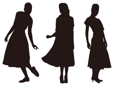 Female silhouette (Fashion 009)