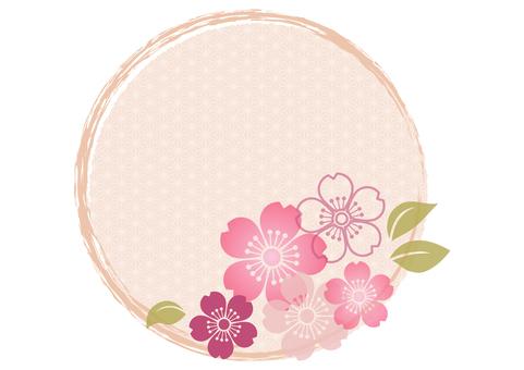 Cherry blossom material 78