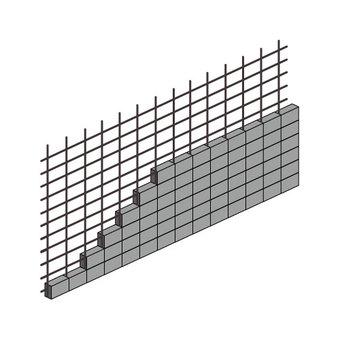 Block fence (rebar stairway hidden)