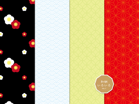 Japanese style pattern various