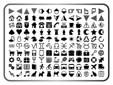 Icons Various sets (black & white)