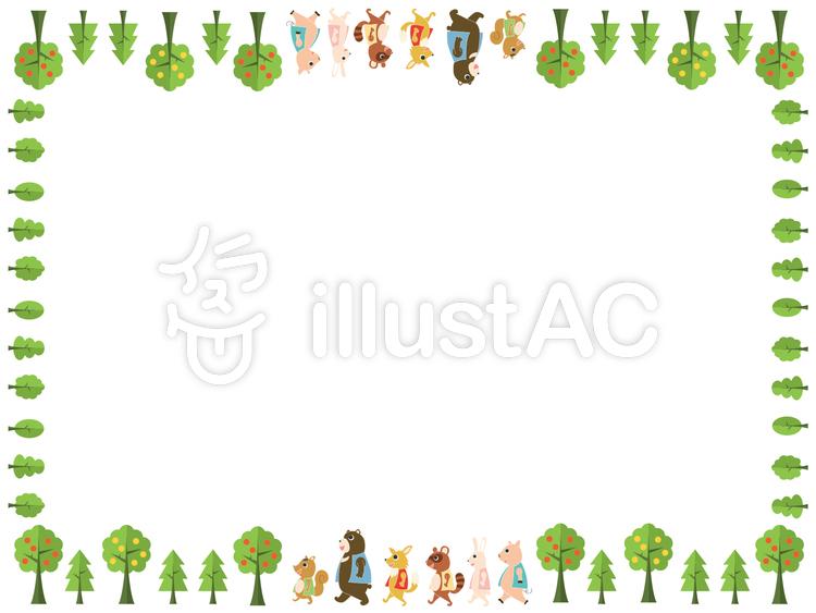 森の動物フレームイラスト No 388786無料イラストならイラストac