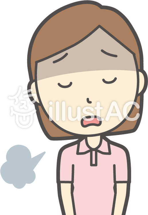 半袖ポロシャツ女性-025-バストのイラスト