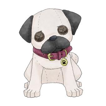 Dog (pag) animal stuffed toy illustration