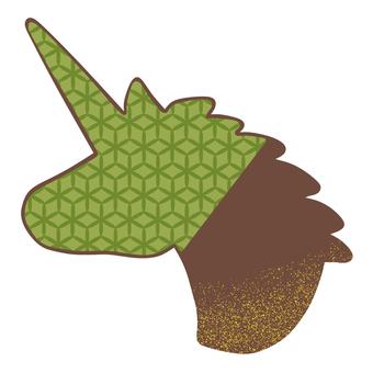 Unicorn chocolate green