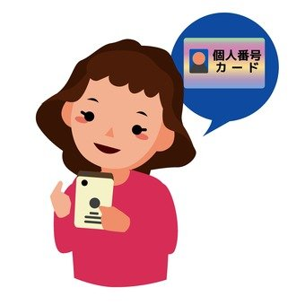 在智能手機發出的個人號碼卡