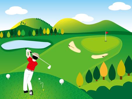 Golf ball par 3