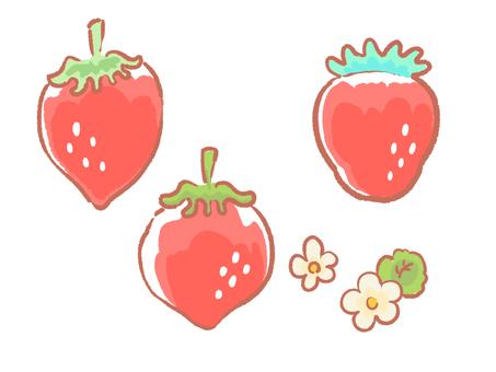 딸기 세트