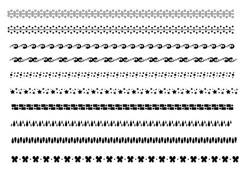 Ruled line pattern - black