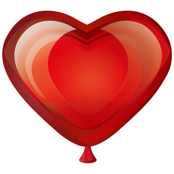 Heart balloon heart shaped balloon red red picture