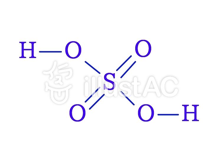 硫酸(sulfuric acid)のイラスト
