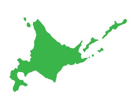 Silhouette of Hokkaido