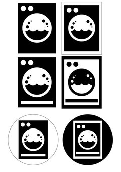Laundromat pictogram