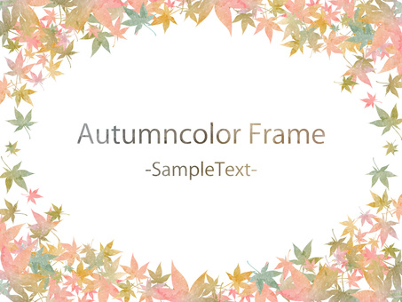 Fall color frame ver 63