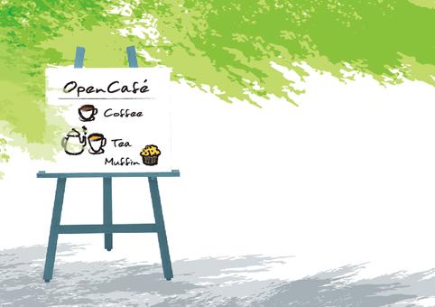 Open cafe illustration