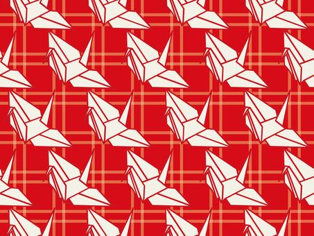 Wallpaper Folded crane 01 Loop possible Red